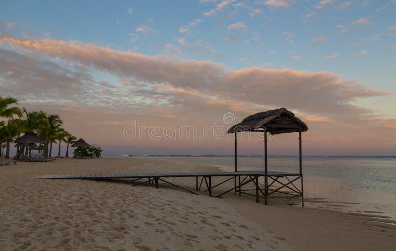 Pier LE Morne Μαυρίκιος στο ηλιοβασίλεμα στοκ εικόνα με δικαίωμα ελεύθερης χρήσης
