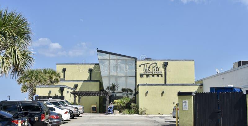 Pier Mexican Restaurant, praia de Jacksonville, Florida fotos de stock