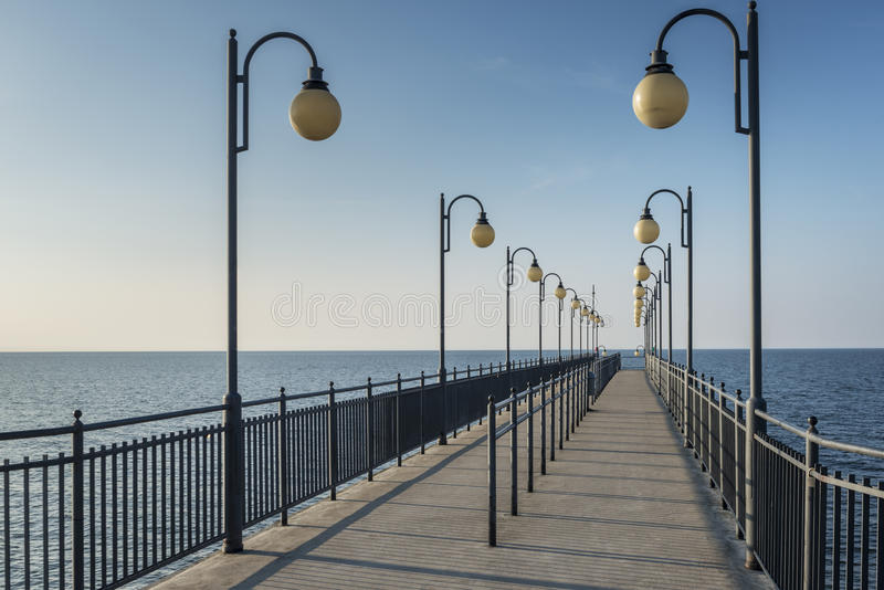 Download Pier In Miedzyzdroje At Baltic Sea, Poland Stock Image - Image: 30711407