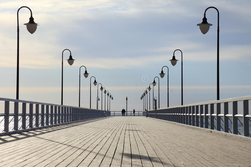 Pier in the morning. royalty free stock photo