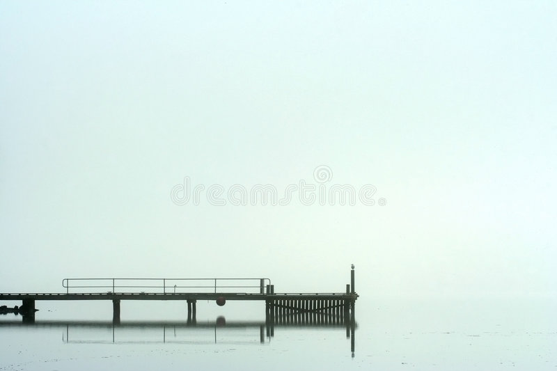Download Pier in morning fog stock image. Image of lake, atmosphere - 3322357