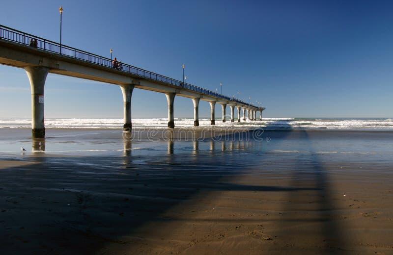 The Pier. New Brighton. Christchurch.NZ stock photo