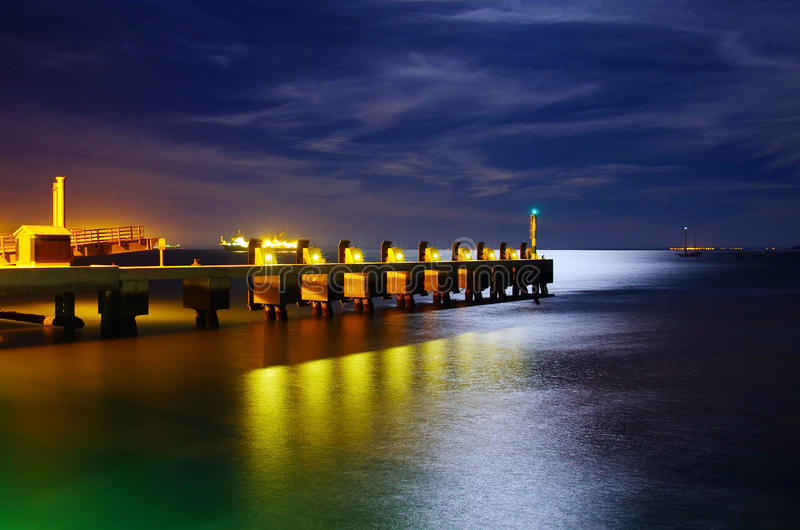 Download Pier At Night Stock Photography - Image: 26606602