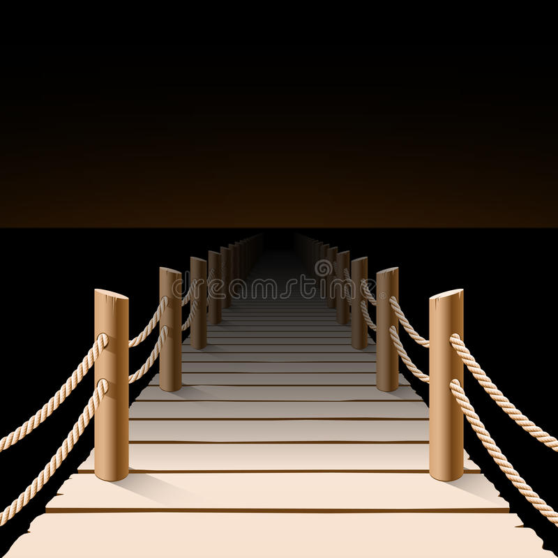Download Night pier stock vector. Image of peaceful, resort, marina - 29966407