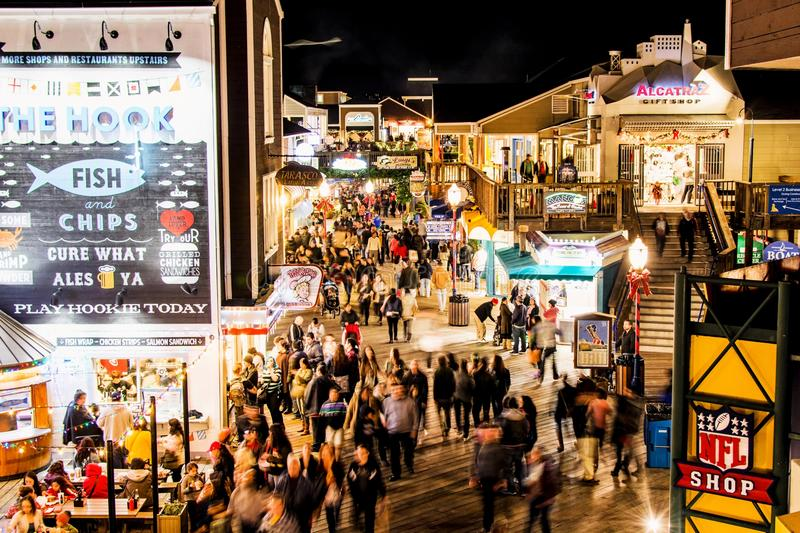 Pier 39 at Night royalty free stock images