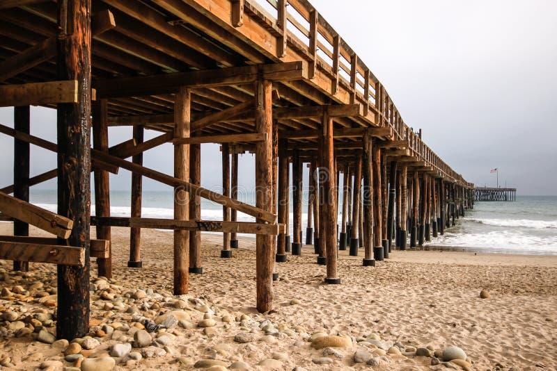 Pier into Pacific Ocean royalty free stock photos