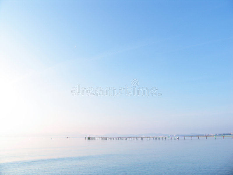 Pier in paradise royalty free stock image