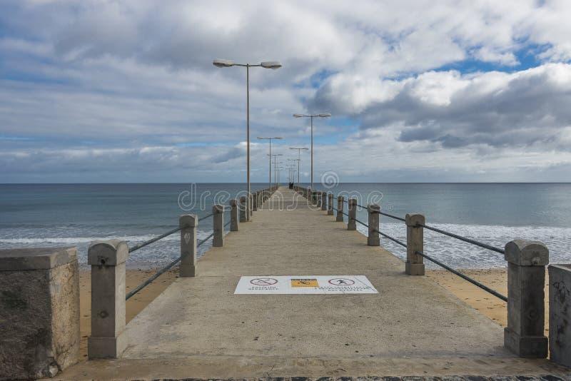 Pier on Porto Santo Island stock photos