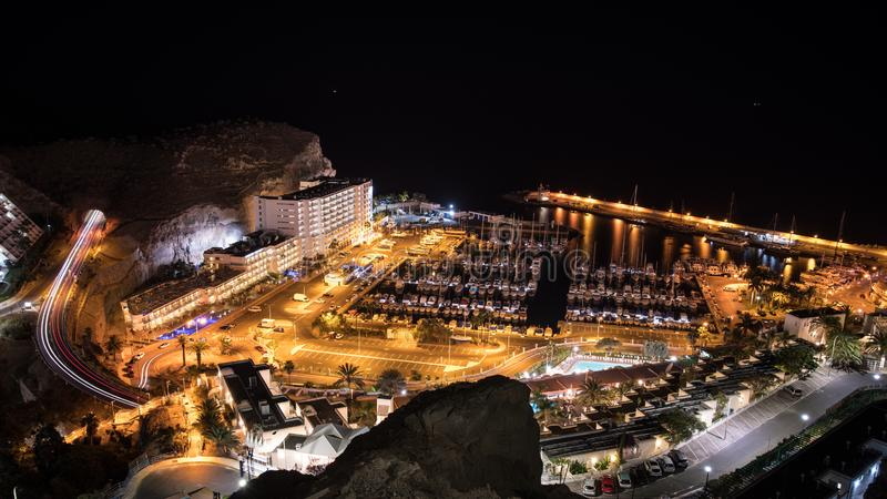 Pier of Puerto Rico, Canary Island, Spain royalty free stock photo