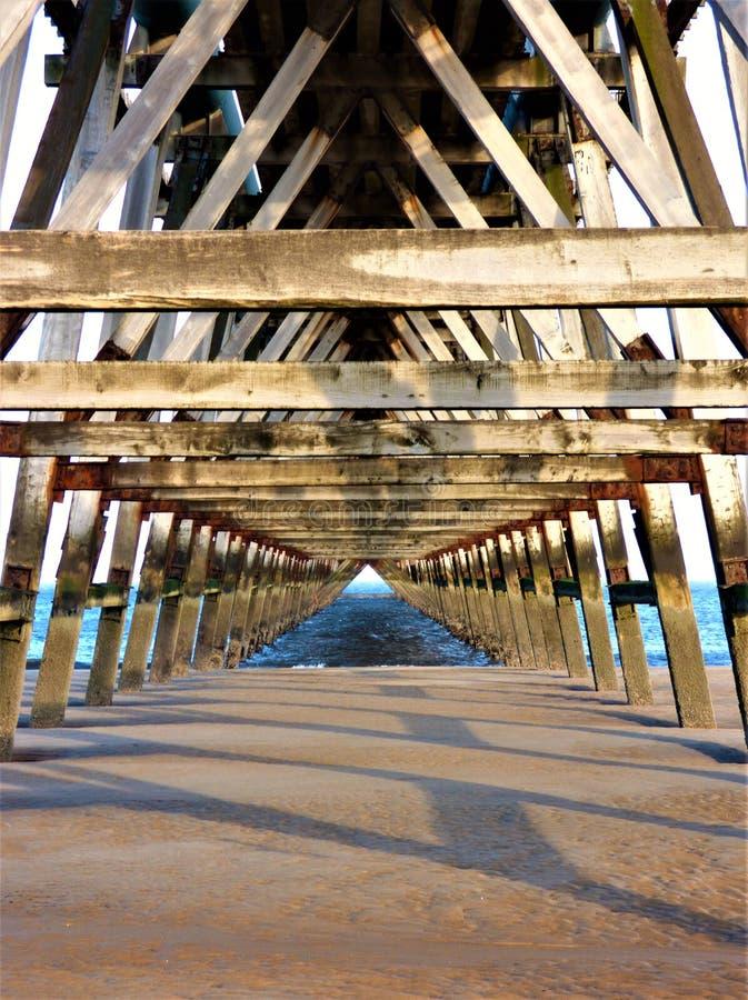 Pier Pyramid en bois photos libres de droits
