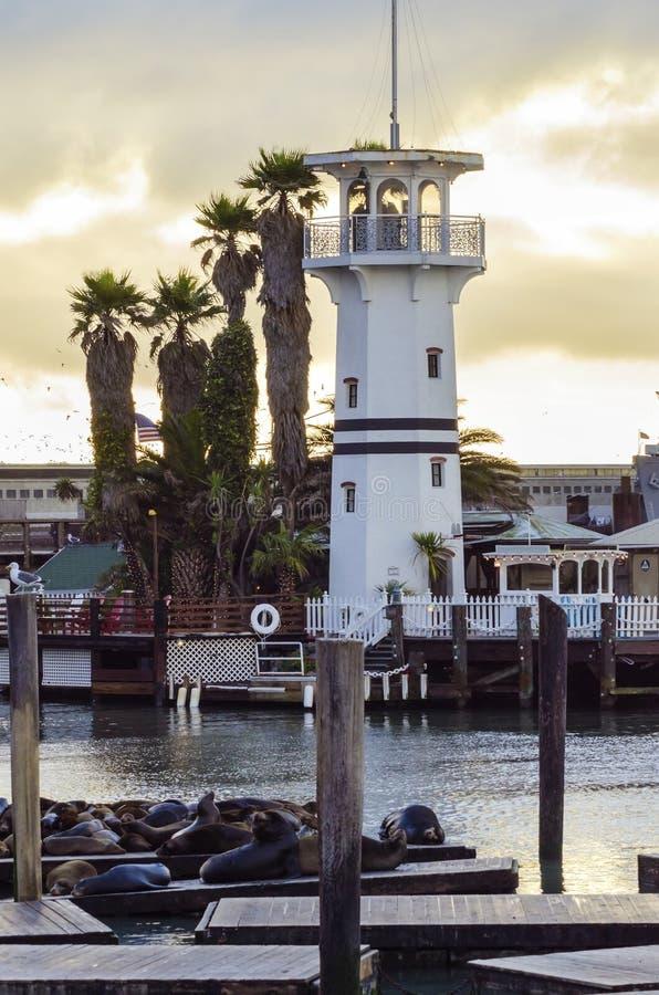Pier 39, San Francisco, Kalifornien stockbild