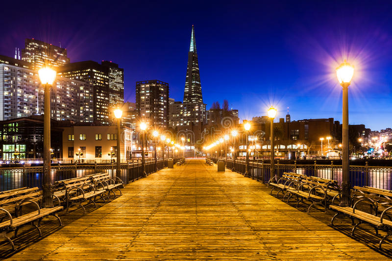 Pier 7 in San Francisco stock photography