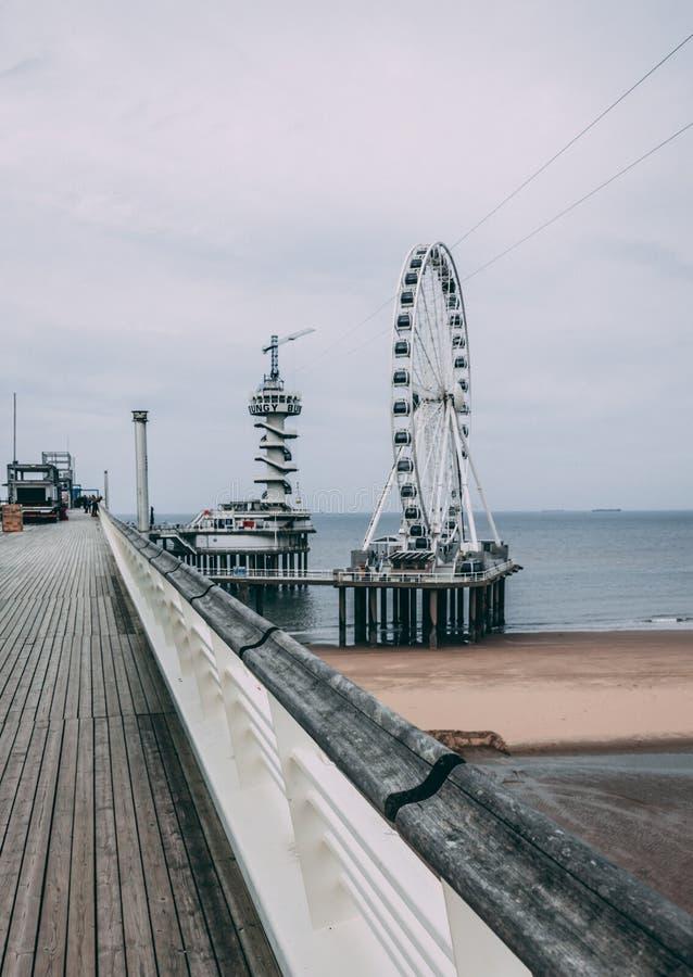 The pier of Scheveingen The Hague in The Netherlands stock images
