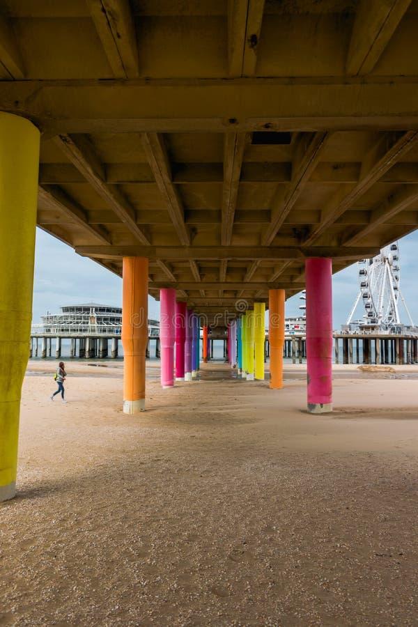 The pier of Scheveingen The Hague in The Netherlands stock image