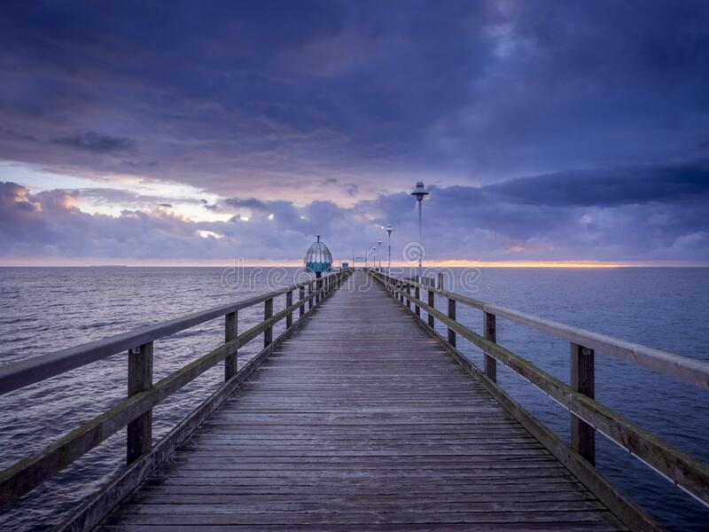 Pier and sea royalty free stock image