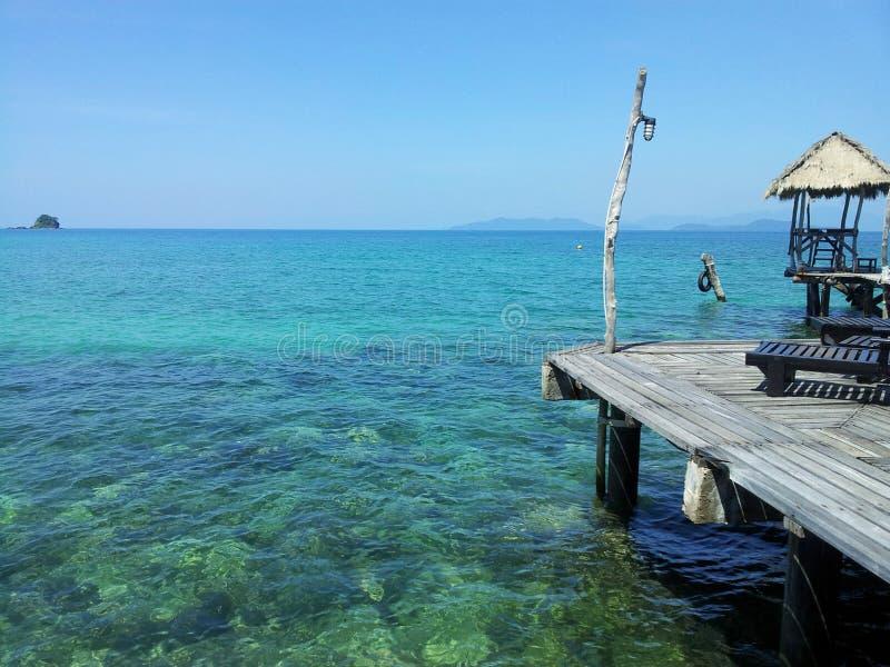 Pier seaside kohmak trad Thailand stock image