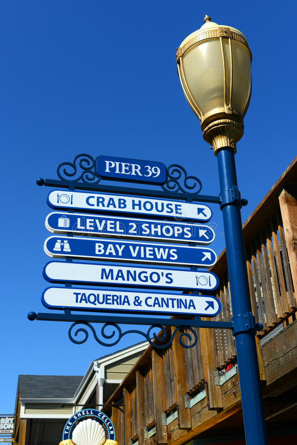 Pier 39 Sign, San Francisco, California royalty free stock photo