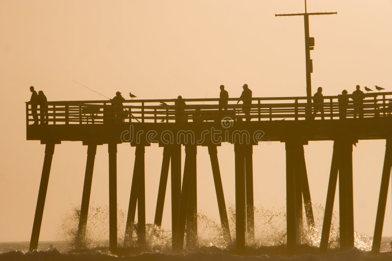 Download Pier Silhouette stock image. Image of pacific, seagull - 2659321