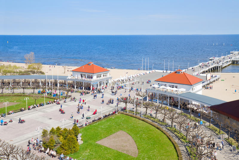 Download Pier of Sopot stock image. Image of roof, beach, outdoor - 30964985