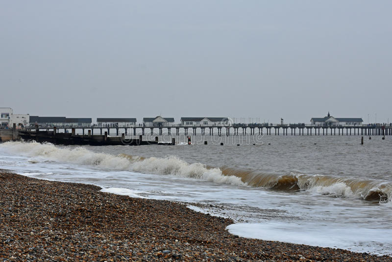Pier at Southwold, Suffolk, UK royalty free stock photos