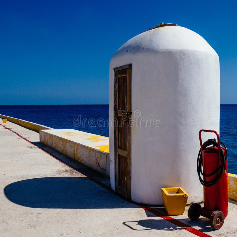 Free Pier Storage Scuba Tank Stock Photo - 40226240