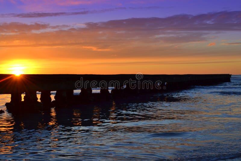 Pier Sunrise fotografia stock libera da diritti