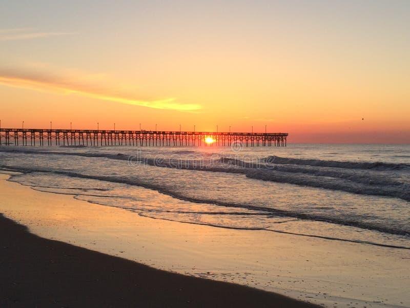 Pier Sunrise foto de archivo