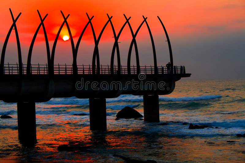 Download Pier and sunrise stock image. Image of inspirational, foam - 5889609
