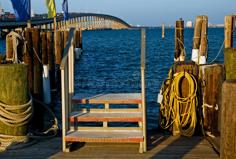 Download Pier at sunset stock photo. Image of shadow, blue, empty - 10755308