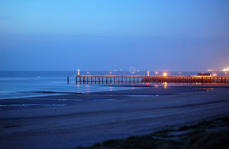 Pier after sunset