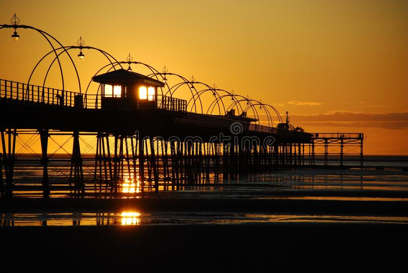 Download Pier at Sunset stock image. Image of outline, silhouette - 22893645