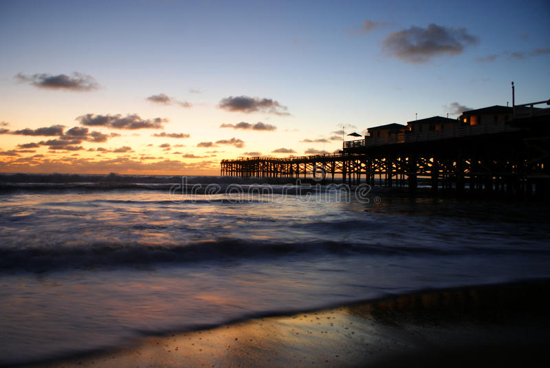 Pier in the Sunset royalty free stock photos