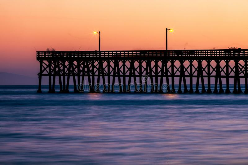 Pier, Sunset, Sunrise, Sea royalty free stock images