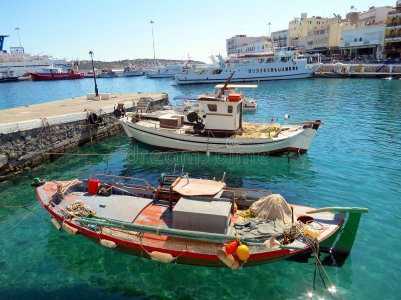 Greek city of Saint Nicholas stock photo