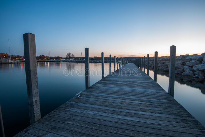 Pier at Traverse City royalty free stock image