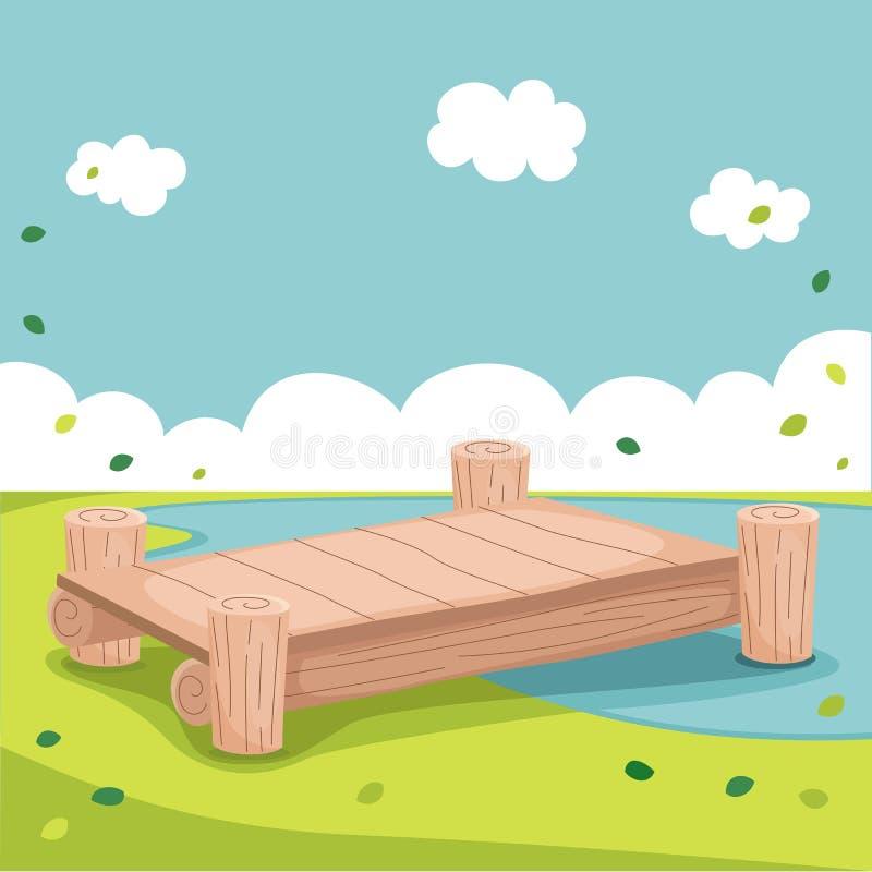 Pier Vector Illustration stock illustratie