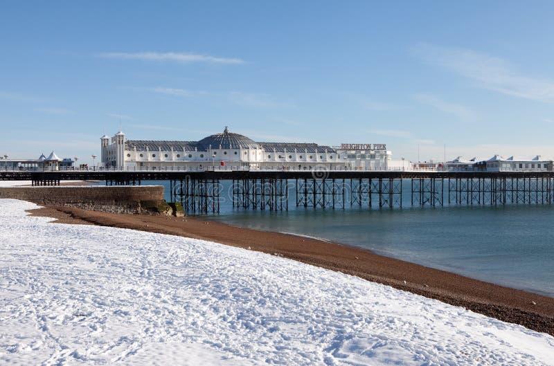 Download Pier winter snow brighton stock image. Image of historic - 17281169