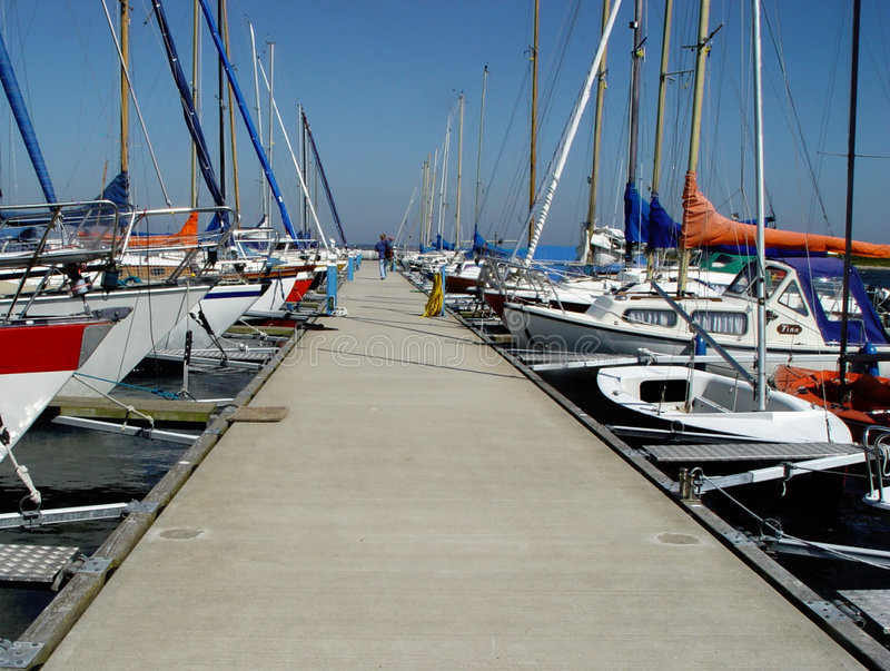 Download Pier in a yachting club stock photo. Image of floating, sailing - 16522
