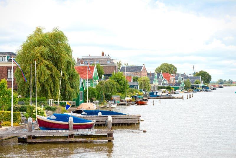 Pier in Zaandam, Nederland royalty-vrije stock foto