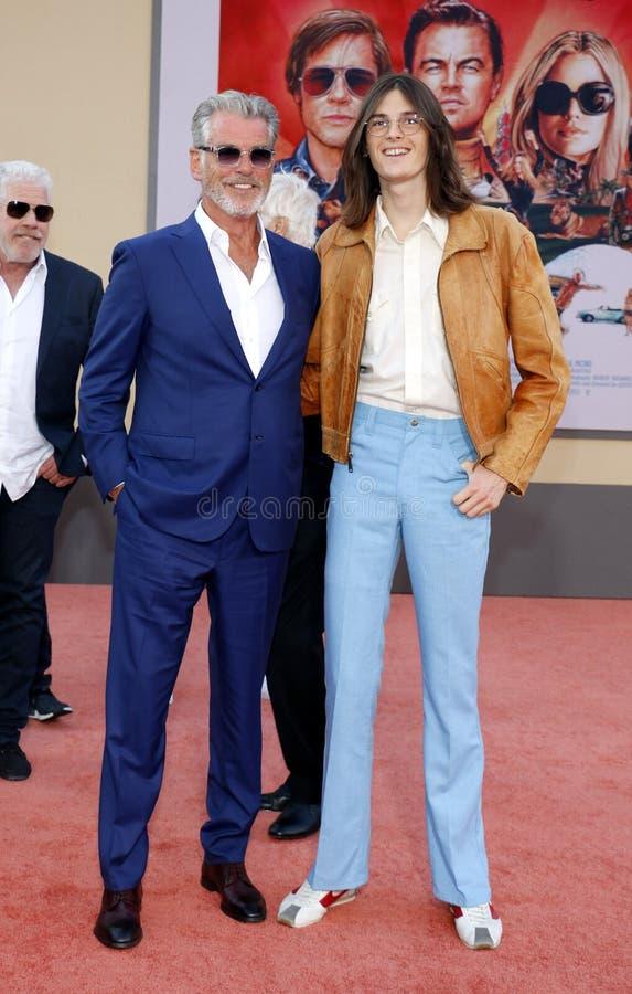 Pierce Brosnan e Dylan Brosnan imagem de stock royalty free