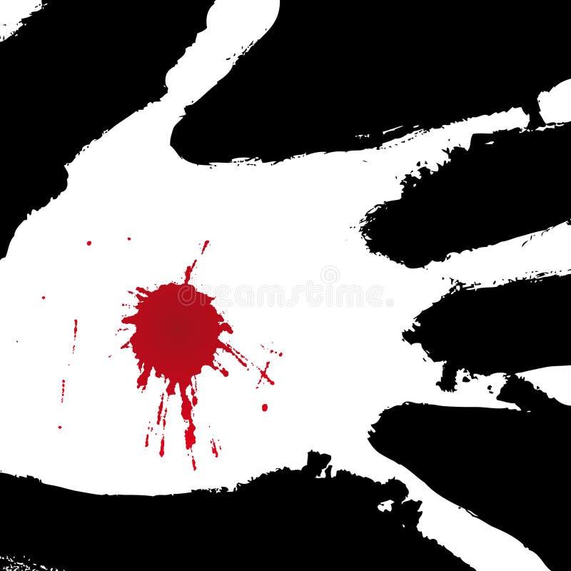 Pierced hand (vector) royalty free stock photos