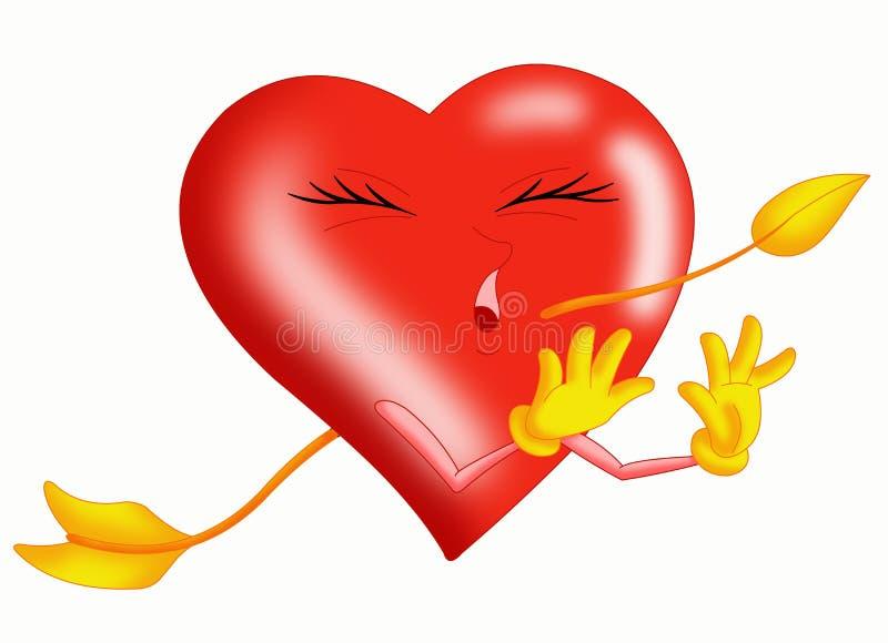 Pierced heart royalty free stock image