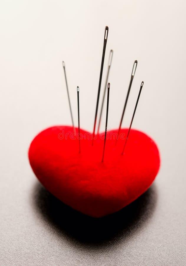 Pierced heart royalty free stock photos