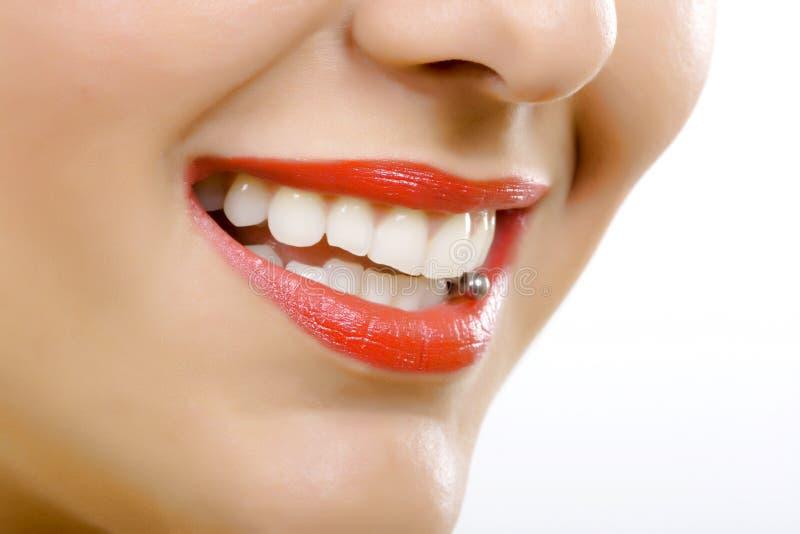 piercing язык стоковые фото