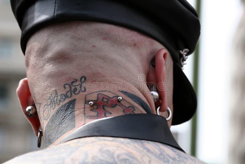 Piercing back stock image