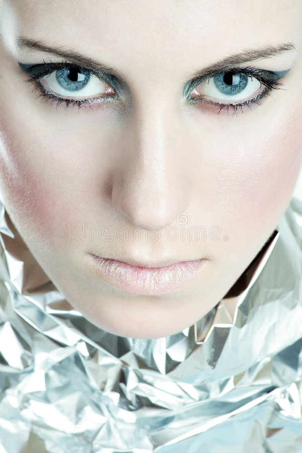 Download Piercing Blue Eyes stock image. Image of face, close, fashion - 4351525