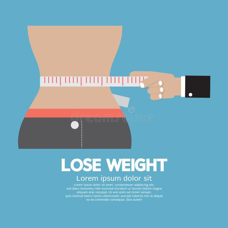Pierda el concepto del peso stock de ilustración