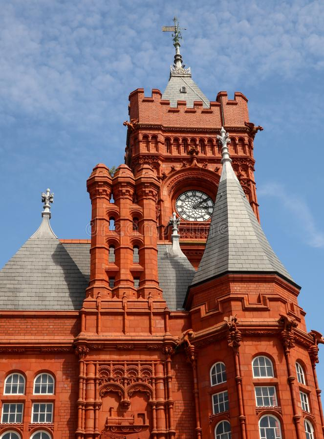 Pierhead Building Gothic detail Cardiff Wales royalty free stock photos