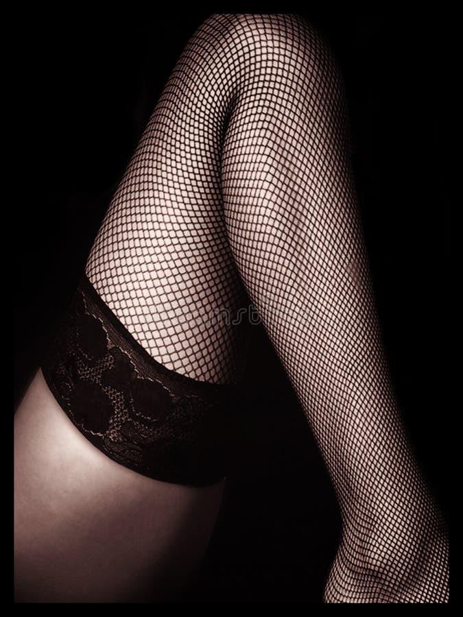 La pierna de la mujer fotografía de archivo
