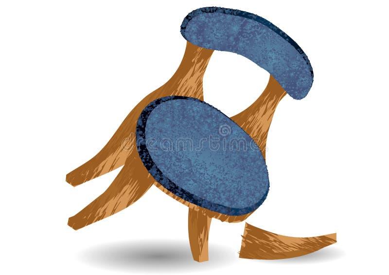 Pierna quebrada de la silla stock de ilustración